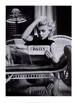 Framed Marilyn Monroe - Motion Picture Daily Print