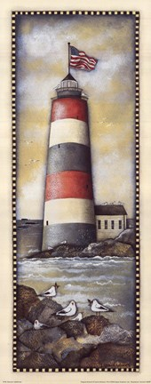 Framed Summer Lighthouse Print