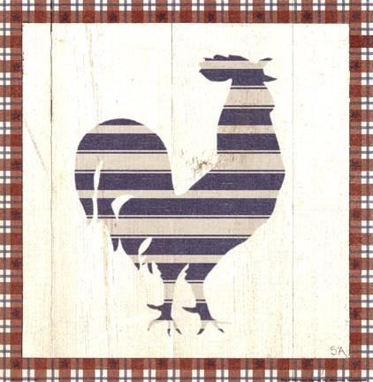 Framed Americana Rooster Print