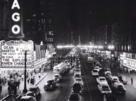 Night Scene of Chicago State Street, 1953 Art