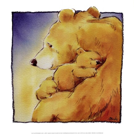 Framed Mother Bear's Love I Print