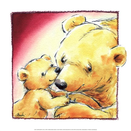 Framed Mother Bear's Love III Print