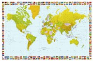Map of the World (mercator projection)  Fine Art Print