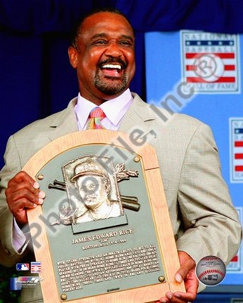 Framed Jim Rice 2009 Hall of Fame Induction Ceremony Print