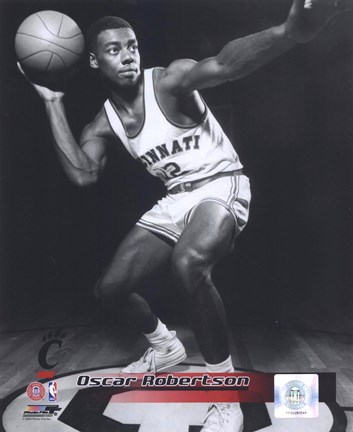Framed Oscar Robertson University of Cincinnati Bearcats 1958 Posed Print