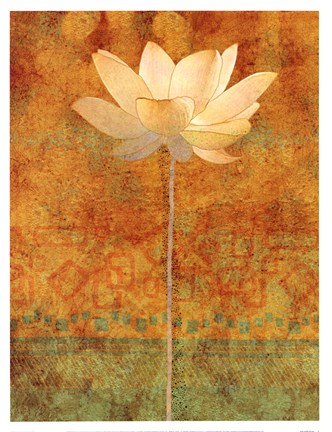 Framed Abstract Lotus I Print
