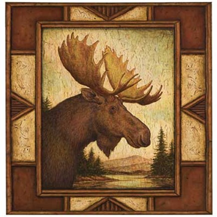 Framed Moose Print