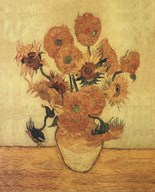 Sunflowers On Gold  Fine Art Print