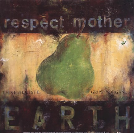 Framed Respect Mother Earth Print