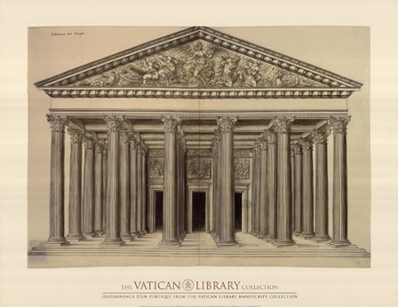 Ordonnance d'un Portique, (The Vatican Collection) art print