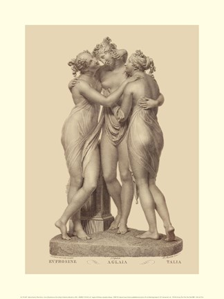 Framed Three Graces, (The Vatican Collection) Print