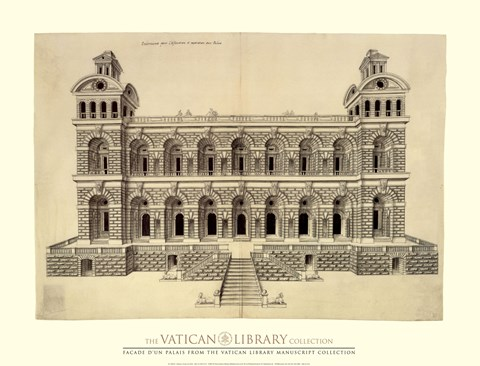 Framed Facade d'un Palais, (The Vatican Collection) Print