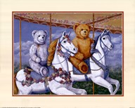 Bears Riding a Carousel Art