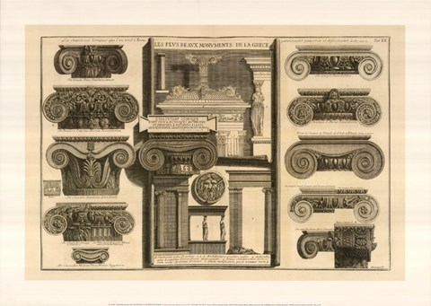 Framed Della Magnificienza ed Architettura de Romani, (The Vatican Collection) Print