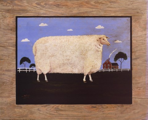 Framed Sheep On Farm Print