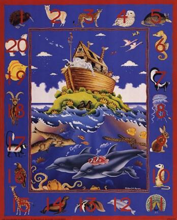 Noah S Ark Numbers Fine Art Print By Richard Henson At