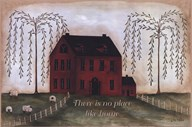 There's No Place Like Home - red  Fine Art Print