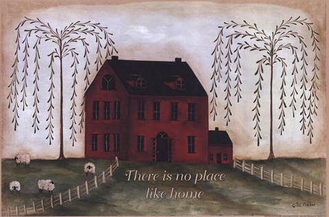 Framed There's No Place Like Home - red Print