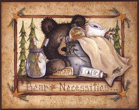 Bear Necessities Fine Art Print By Mary Ann June At