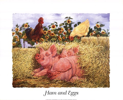 Framed Ham and Eggs Print