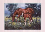 Horse and Foal Art