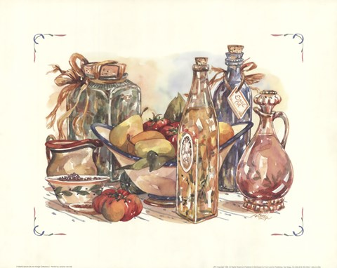 Framed Spiced Oil and Vinegar Collection II Print