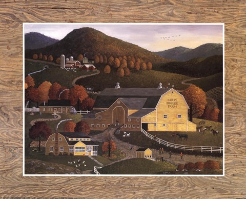 Framed Early Sunrise Farm Print