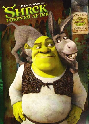 Framed Shrek Forever After - style B Print