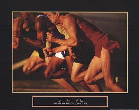 Framed Strive - Race Print