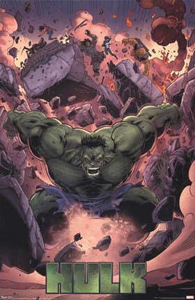 Framed Hulk - Smash! Print