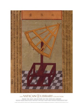 Framed Sextant, (The Vatican Collection) Print