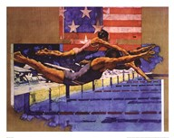 Olympic Swimmers  Fine Art Print