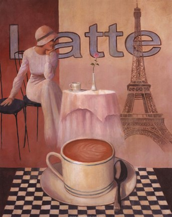 Framed Latte - Paris Print