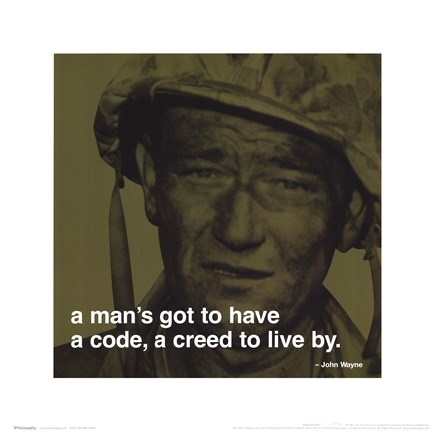 Framed John Wayne - iPhilosophy - Creed Print