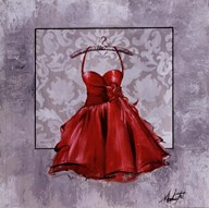 Red Party Dress Art