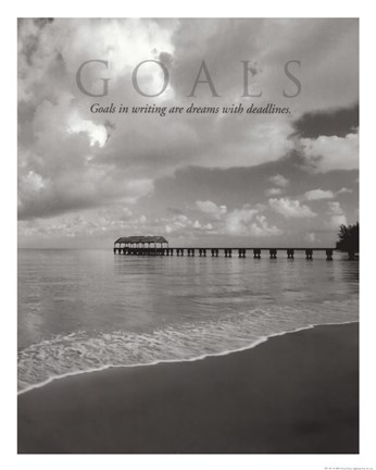 Framed Goals Print