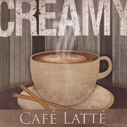 Framed Creamy Cafe Latte Print