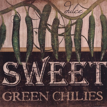 Framed Sweet Green Chilies Print