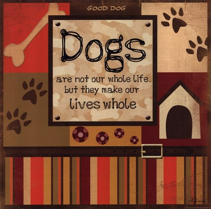 Framed Dog's Whole Life Print