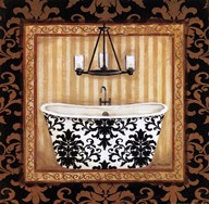 Black Veranda Bath I Art
