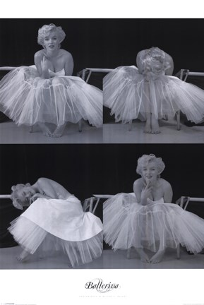 Marilyn Monroe Ballerina Sequence Wall Poster By Milton