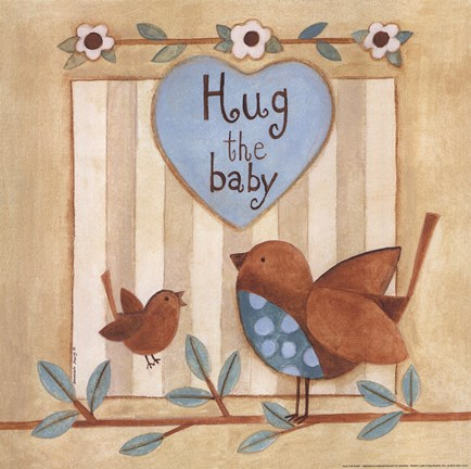 Framed Hug the Baby Print