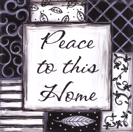 Framed Peace to This Home Print