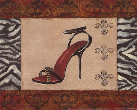 Framed Fashion Shoe II Print