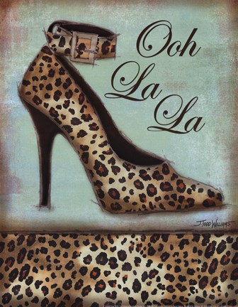 Framed Leopard Shoe Print