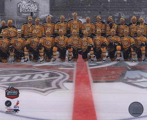 The Boston Bruins Team Photo 2010 Nhl Winter Classic Fine
