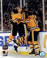 Patrice Bergeron, Zdeno Chara, & Marco Sturm Celebrate the Game Winning Goal  2010 NHL Winter Classic Art