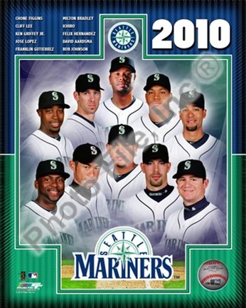 Framed 2010 Seattle Mariners Team Composite Print
