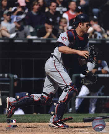 Framed Joe Mauer 2010 Catching Action Print