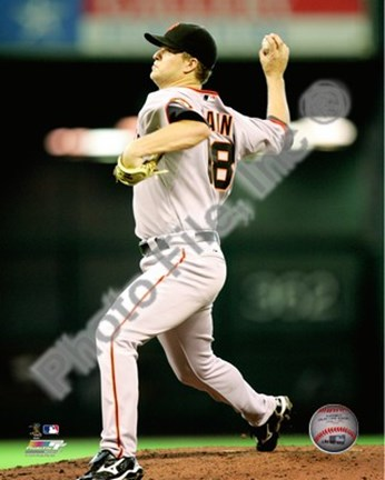 Framed Matt Cain 2010 Action Print